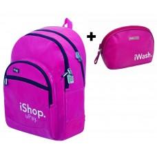 Mochila iStyle Pink Reforzada + Neceser (escolar)