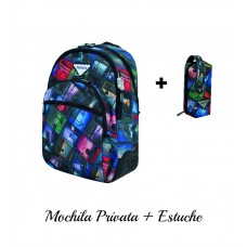 Mochila Privata Road + Estuche  (escolar)