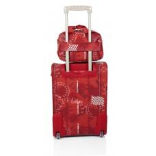Set maleta cabina + bolsa + portatodo Stamp Rojo