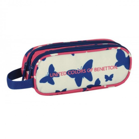 Estuche escolar Butterfly de Benetton (doble compartimento)