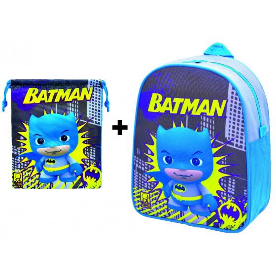 Mochila guardería Batman con saquito