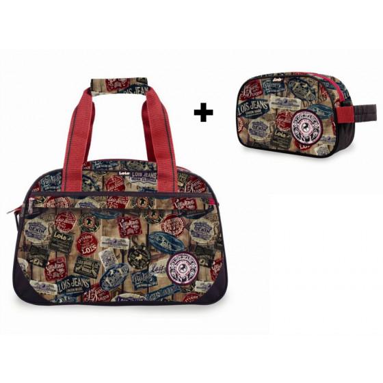 Pack bolsa más neceser marca Lois Niño