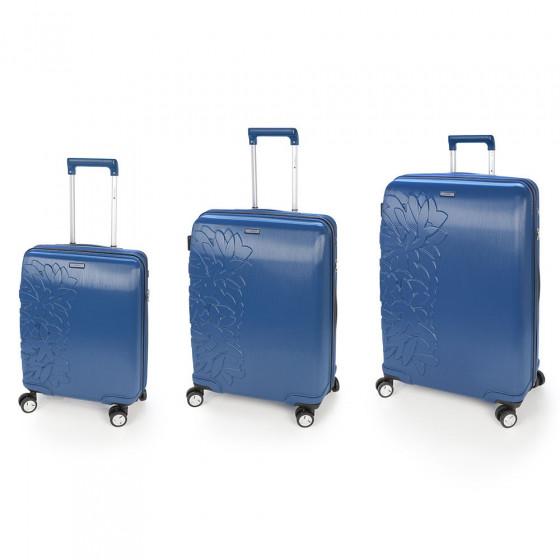 Conjunto de maletas Bloom azul, pequeña, mediana y grande