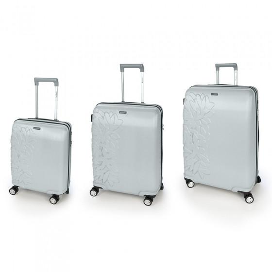 Juego 3 maletas Bloom plata