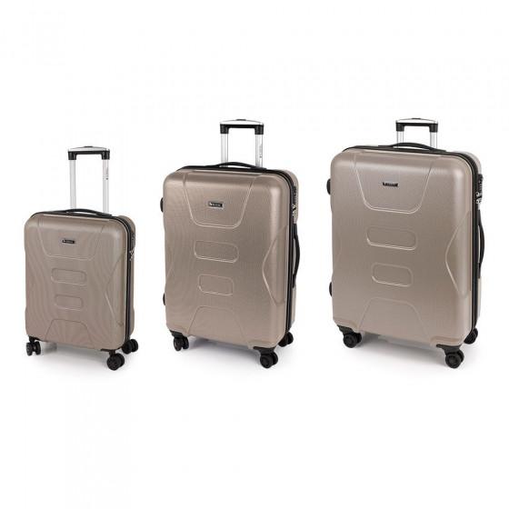Juego de 3 maletas Custom de Gabol, color beige