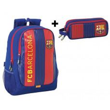 Equipación Barcelona (Conjunto Mochila Futbol F.C. Barcelona) + Estuche