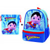 Mochila guardería Superman con bolsillo + Saquito (guardería - E.infantil - paseo)